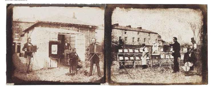 相对于达盖尔法来说,塔尔博特的卡罗法的优点是可以无限复制。1844年,塔尔博与荷兰人尼古拉斯 * 亨尼曼(Nicolaas Henneman)开设了照相复制工厂。