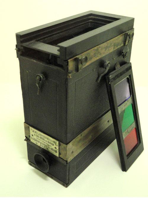 豪隆的彩色摄影装置(图片来自尼埃普斯摄影博物馆)