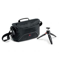 曼富图(Manfrotto)MB MA-M-AS PIXI邮差单肩摄影包+PIXI EVO两节迷你桌面三脚